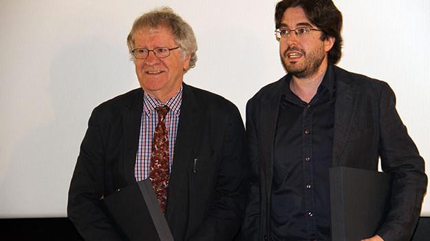 Ian Gibson y Rafael Nieto reciben el  Premio Muñoz Suay de la Academia