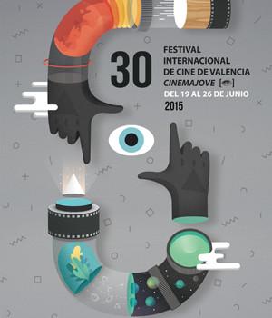 Amadeo Castroviejo y Roser Miquel, del estudio Casmic-Lab, firman el cartel de Cinema Jove
