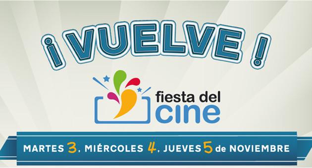 La novena edición de la Fiesta del Cine se celebrará del 3 al 5 de noviembre