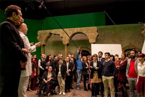 Los fans de 'El Ministerio del Tiempo'  participan en el rodaje de la segunda temporada