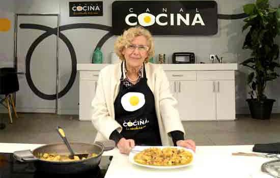 Manuela Carmena participa en 'Hoy cocina el alcalde' de Canal Cocina