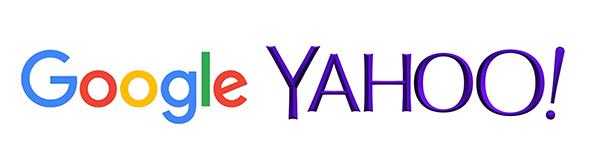 Google y yahoo logos