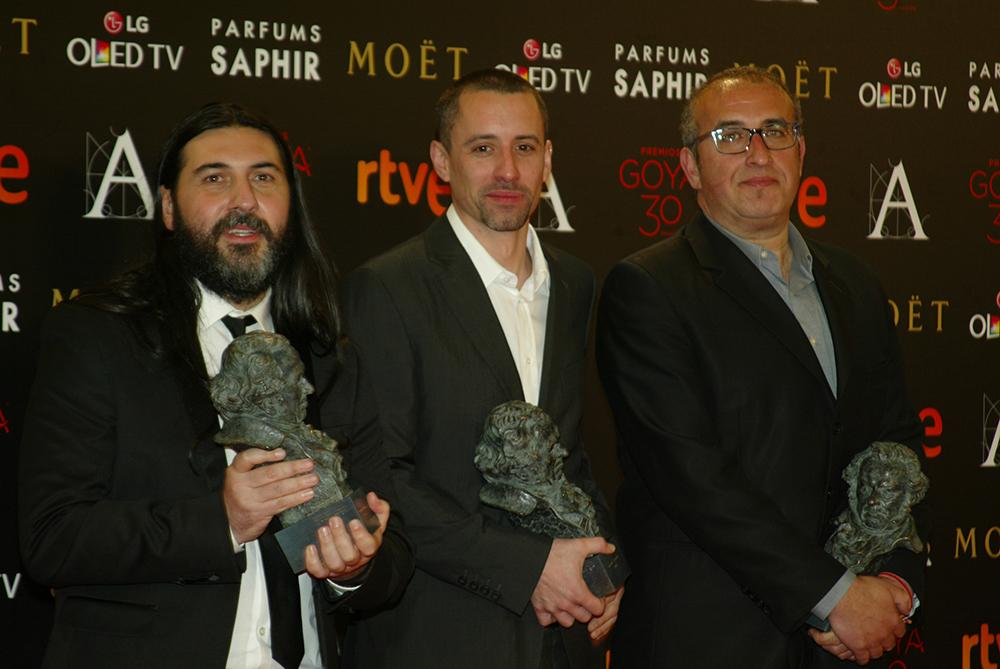 David Machado, Jaime Fernández y Nacho Arenas recibieron el Goya al Mejor Sonido por El desconocido