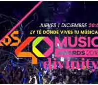Divinity emite en directo los 40 Music Awards