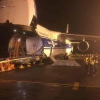 El satélite Hispasat 36W-1 llega a la base de lanzamiento de Kourou