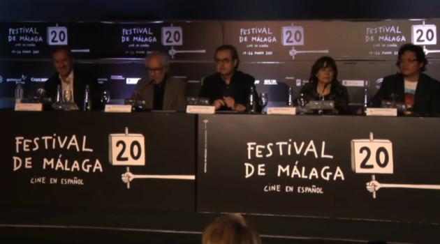 Lectura del palmarés de la vigésima edición del Festival de Málaga