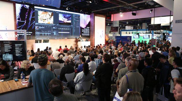 El numeroso público asistente a la edición 2017 del NAB de Las Vegas (Foto: Robb Cohen).