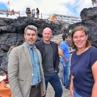 """Alberto Bernabé (a la izquierda), consejero de Turismo del Cabildo, destaca la """"completa red de empresas de service con gran experiencia y profesionalidad y un increíble talento local""""."""