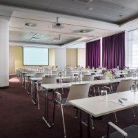 Una sala de reunión del hotel Radisson Blu Royal en Bruselas.