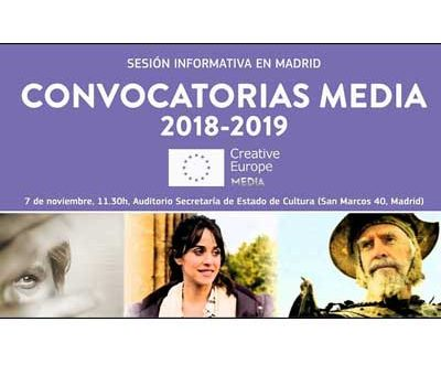La Oficina MEDIA España ofrecerá una jornada informativa sobre las próximas convocatorias
