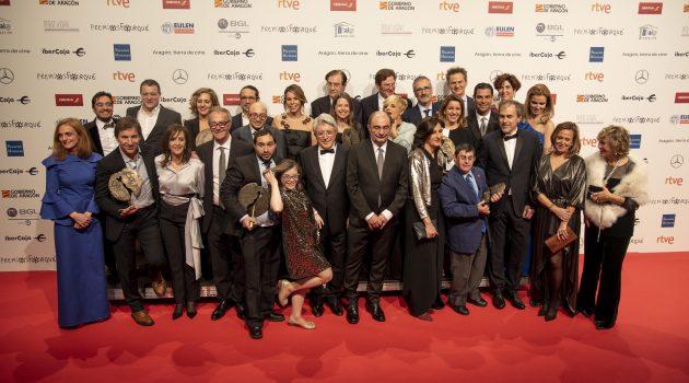 Foto de familia con los ganadores de la 24ª edición de los Premios Forqué.