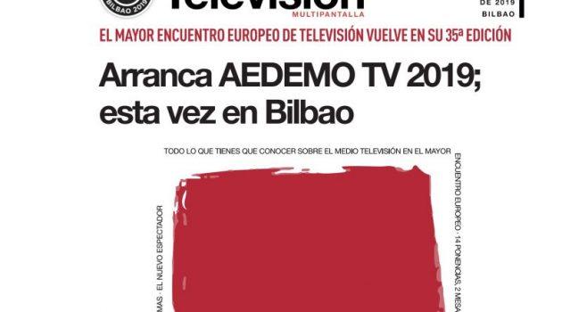AEDEMO TV 2019 reunirá a los profesionales de la televisión en Bilbao