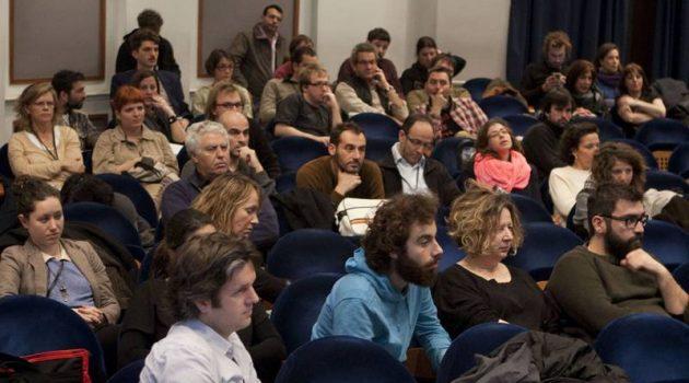 Asistentes a la presentación de un proyecto en Docs in Thessaloniki.