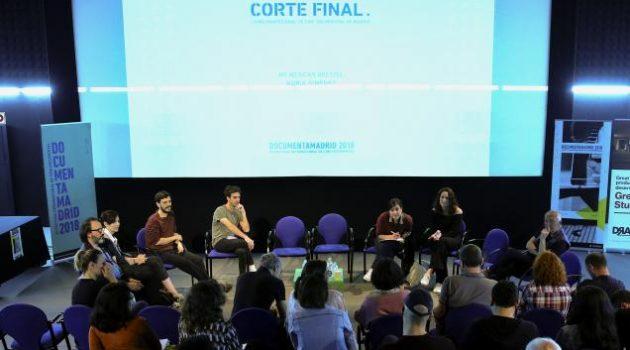 Una presentación de proyecto durante la primera edición del foro Corte Final (Foto Andrea Comas)