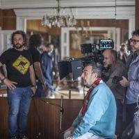 José Luis Garci, junto al director de fotografía Luis Ángel Pérez AEC y el operador Roberto Fernández.