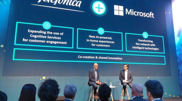Telefónica y Microsoft unen fuerzas para diseñar la telco del futuro