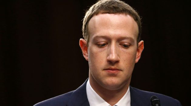 Facebook CEO Mark Zuckerberg listens while testifying before a joint Senate Judiciary and Commerce Committees hearing regarding the company's use and protection of user data, on Capitol Hill in Washington, U.S., April 10, 2018. REUTERS/Leah Millis - HP1EE4A1SCS7O