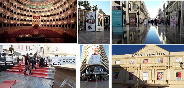 La ciudad de Málaga se engalana para la inauguración.