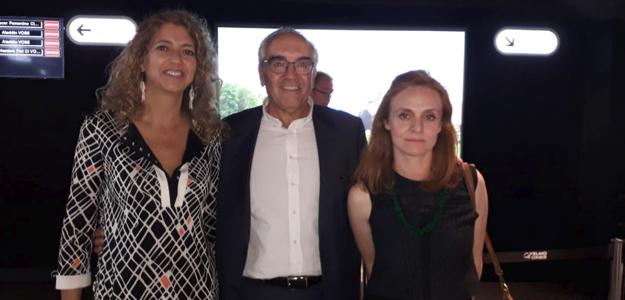 Estela-Artacho-Presidenta-de-FEDICINE-Juan-Ramón-Gómez-Fabra-Presidente-de-FECE-y-Beatriz-Navas-Directora-General-del-ICAA