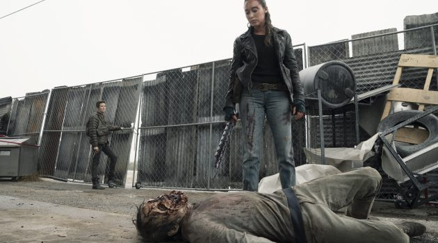 Maggie Grace as Althea, Alycia Debnam-Carey as Alicia Clark- Fear the Walking Dead _ Season 5, Episode 1 - Photo Credit: Ryan Green/AMC