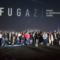 Foto de familia con los ganadores de los Fugaz 2019