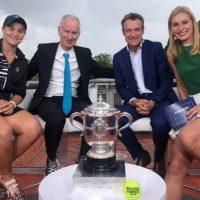 Ash Barty,  campeona de Roland-Garros, en el programa de 'Game, Schett & Mats' (Imagen: Eurosport)