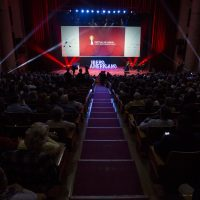 Imagen de la gala de inauguración del Festival de Huelva 2018.