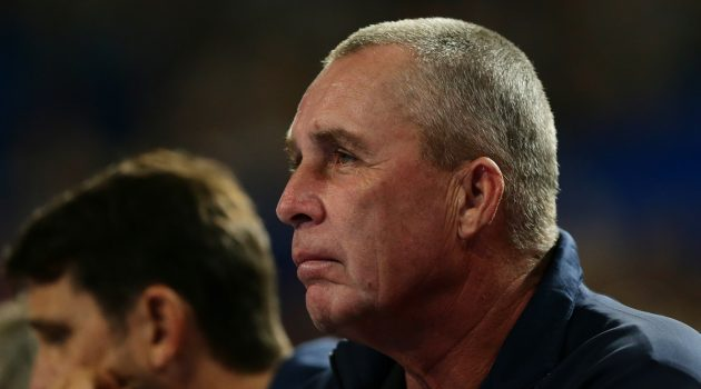 PERTH, AUSTRALIA - JANUARY 04: Retired tennis player Ivan Lendl watches Alexander Zverev of Germany in the mens singles match against  Matt Ebden of Australia during day seven of the 2019 Hopman Cup at Perth Arena on January 04, 2019 in Perth, Australia. (Photo by Will Russell/Getty Images)
