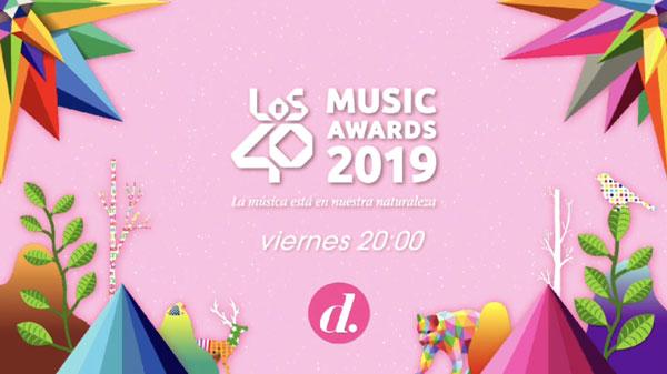 Divinity emite en directo Los40 Music Awards, que este año se comprometen con el medio ambiente