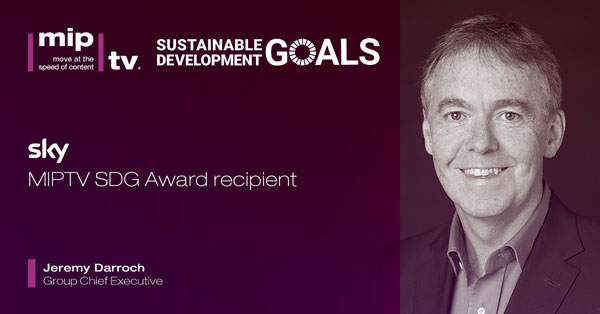 Sky recibirá el nuevo MIPTV SDG Award