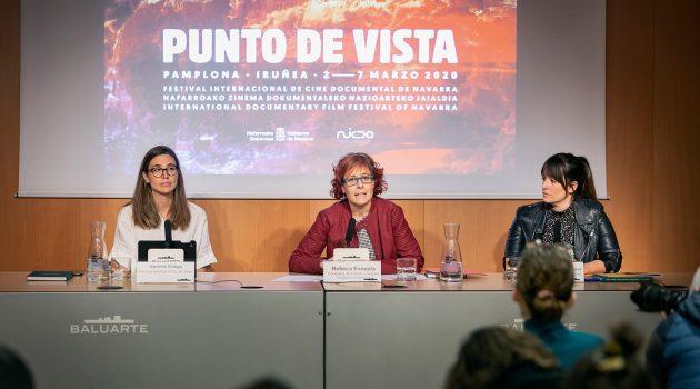 De izquierda a derecha Garbiñe Ortega,Rebeca Esnaola y Teresa Morales de Álava