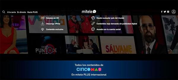 Mediaset lanza Mitele PLUS Internacional