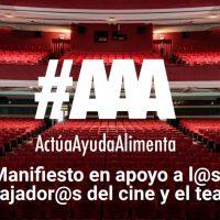 La Academia de Cine se adhiere a 'ActúaAyudaAlimenta' para apoyar a los trabajadores de la cultura