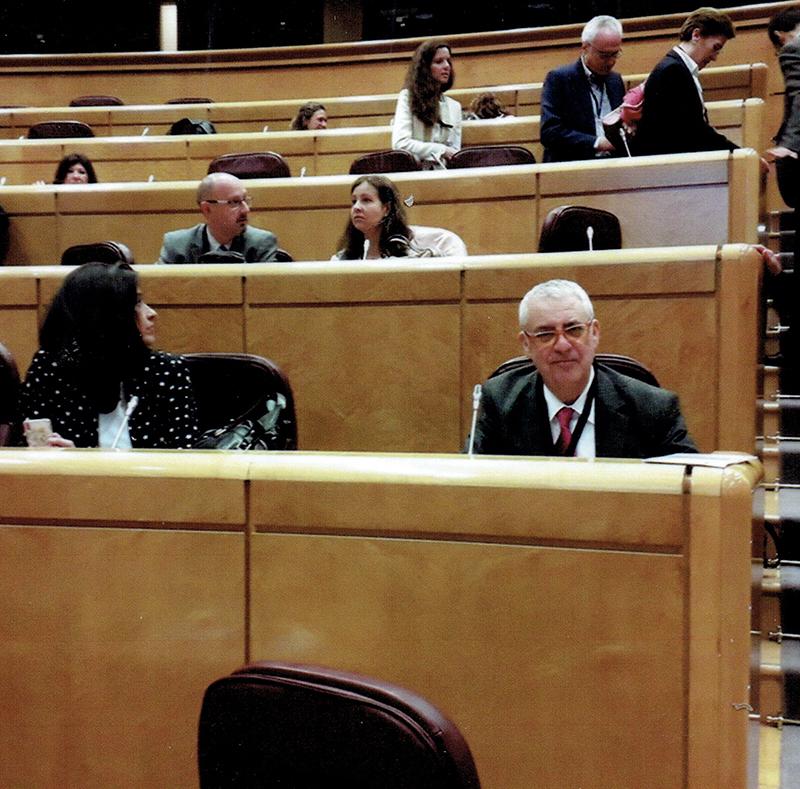 Antonio Carballo en el Senado, con motivo de la celebración del Día Mundial de la Propiedad Intelectual en 2018.