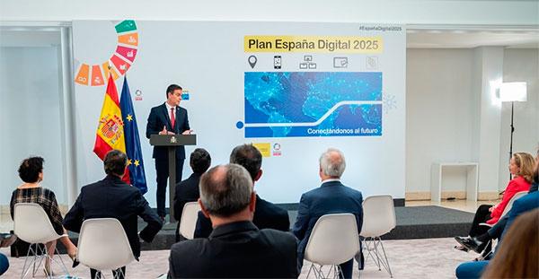 Pedro Sánchez presenta España Digital 2025