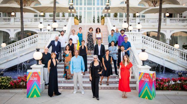 Foto de familia con los premiados en el Festival de Málaga 2020 (Foto: Eloy Muñoz Reyes)