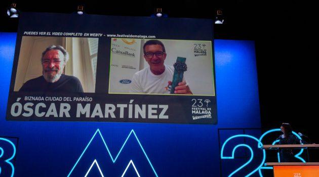 Festival de Málaga: Antonio Banderas entrega una biznaga virtual y Cinema Cocina revela su palmarés