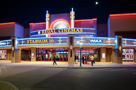 Fachada de un cine de Regal Cinemas, segunda mayor cadena de exhibición en Estados Unidos.