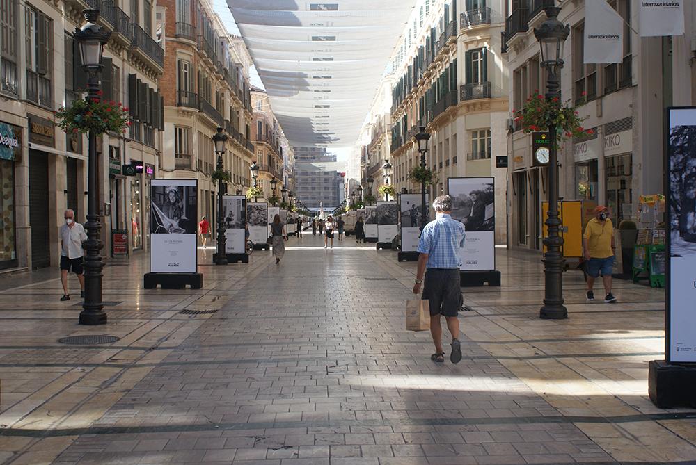 La calle Larios engalanada durante el Festival de Málaga 2020