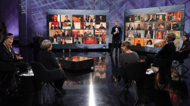 La gala se retransmitió online desde el escenario Futurium en Berlín (Foto de Andreas Rentz/Getty Images para EFA)