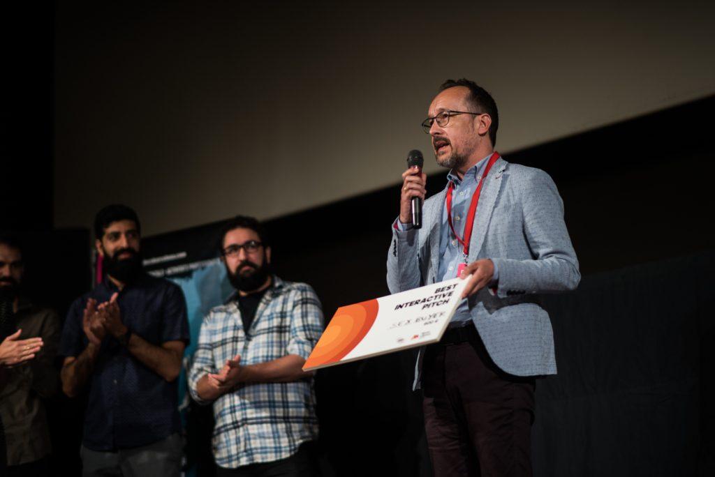 Entrega de premios de industria en una edición anterior de DocsBarcelona.