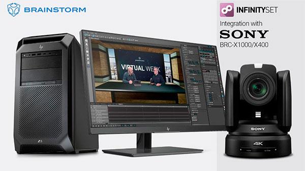 Brainstorm anuncia la integración directa de InfinitySet con la línea de cámaras BRC de Sony