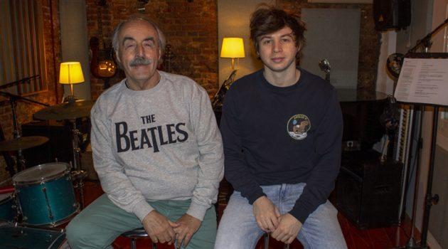 Manuel Pacho y su hijo Elton