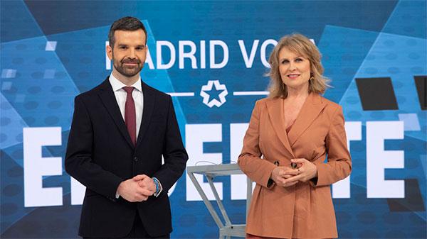 Jon Ariztimuño y María Rey moderan hoy el debate electoral del 4-M en Telemadrid