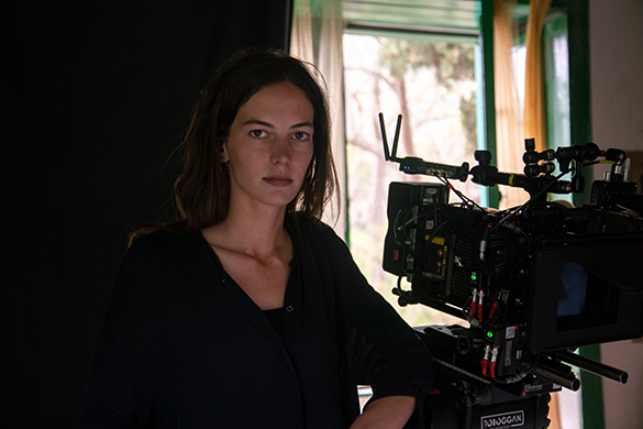 Carlota González-Adrio en el set de rodaje (Foto: Verónica González Mayoral)