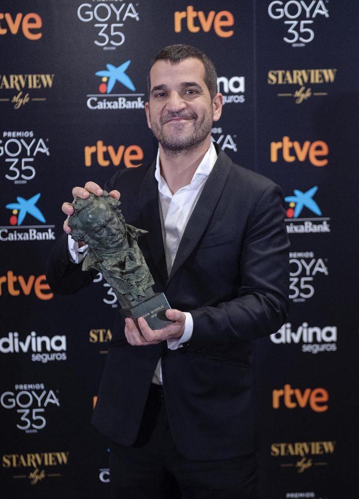 Sergio Jiménez, Goya a Mejor Montaje por 'El año del descubrimiento' ©Alberto Ortega -Cortesía de la Academia de Cine.
