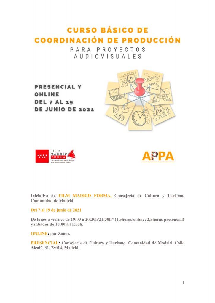La Comunidad de Madrid lanza un nuevo curso de producción para el sector audiovisual