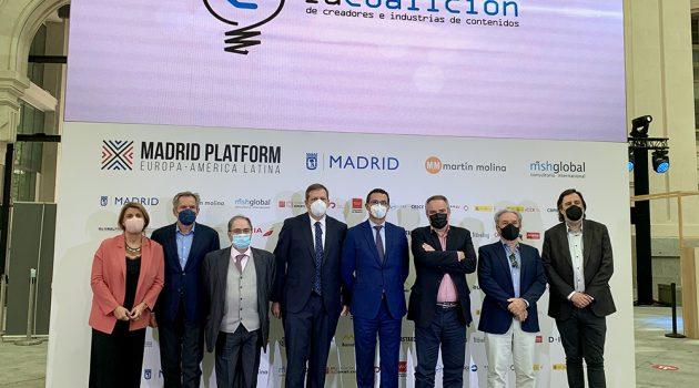 Photocall con los ponentes de este coloquio en Madrid Platform.