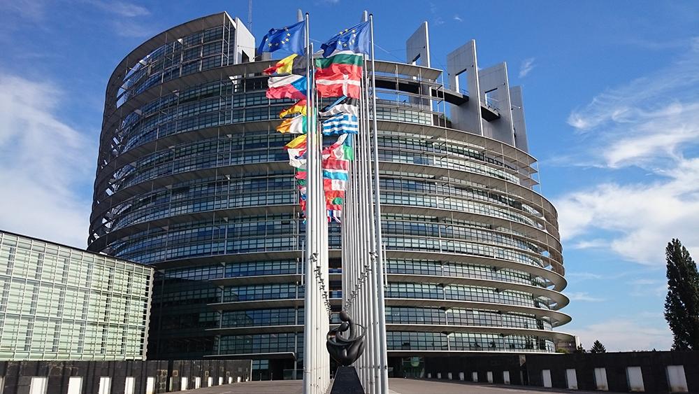 Imagen de la fachada del Parlamento Europeo en Estrasburgo.