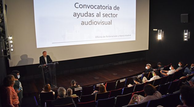 La Academia de Cine en Madrid ha acogido el acto de presentación de las nuevas subvenciones del Ayuntamiento de Madrid al Audiovisual.